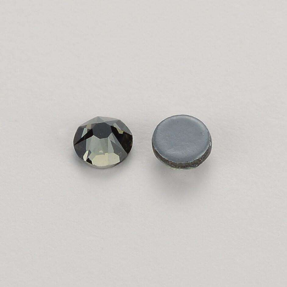 Black Diamond HotFix Rhinestones 8 Big 8 Small Cut Facets - WholesaleRhinestone
