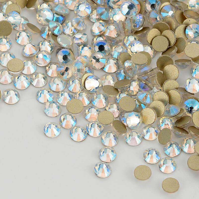 Blue Moonlight Effects Glass FlatBack Rhinestones, Nail Crystals - WholesaleRhinestone