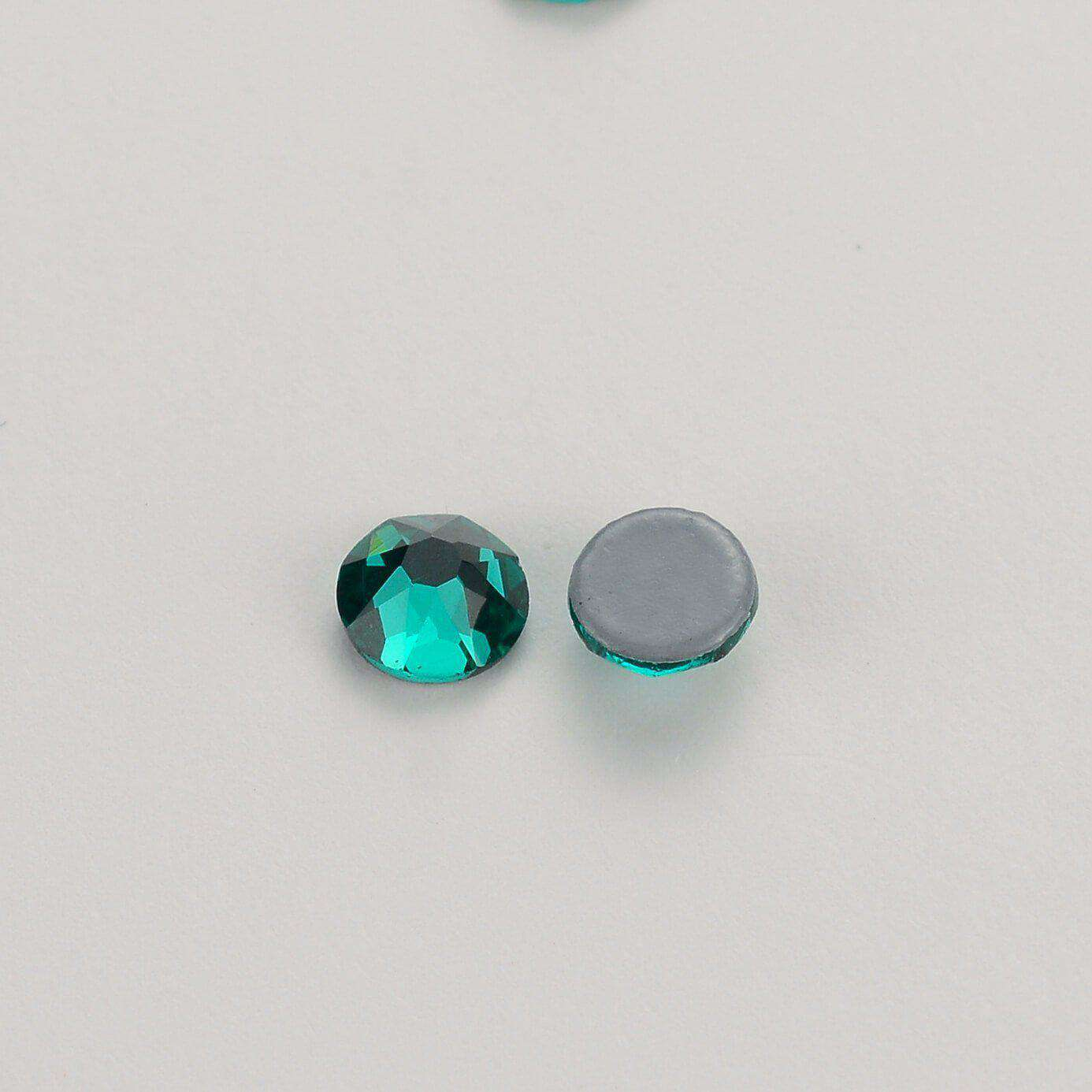 Blue Zircon HotFix Rhinestones 8 Big 8 Small Cut Facets - WholesaleRhinestone