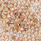 Champagne Effects Glass FlatBack Rhinestones, Nail Crystals - WholesaleRhinestone