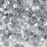 Clear Crystal HotFix Rhinestones Glass FlatBack Crystals - WholesaleRhinestone