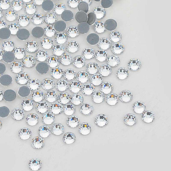 Clear Crystal HotFix Rhinestones Glass FlatBack Crystals