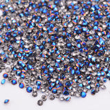 1.2MM Cobalt Blue Unfoiled Glass Micro Pixie Pointed Rhinestones For Nail Art