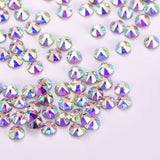 Crystal AB Flat Back HotFix Rhinestones 8 Big 8 Small Cut Facets