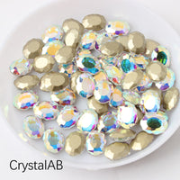Crystal AB Magic Mirror Shape Flat Back Fancy Rhinestones For Nail Art