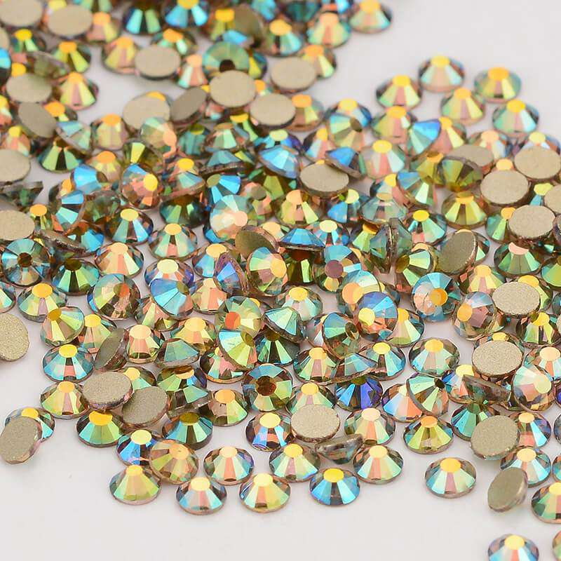 Ghost Light Effects Glass FlatBack Rhinestones, Nail Crystals - WholesaleRhinestone