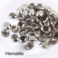 Hematite Magic Mirror Shape Flat Back Fancy Rhinestones For Nail Art