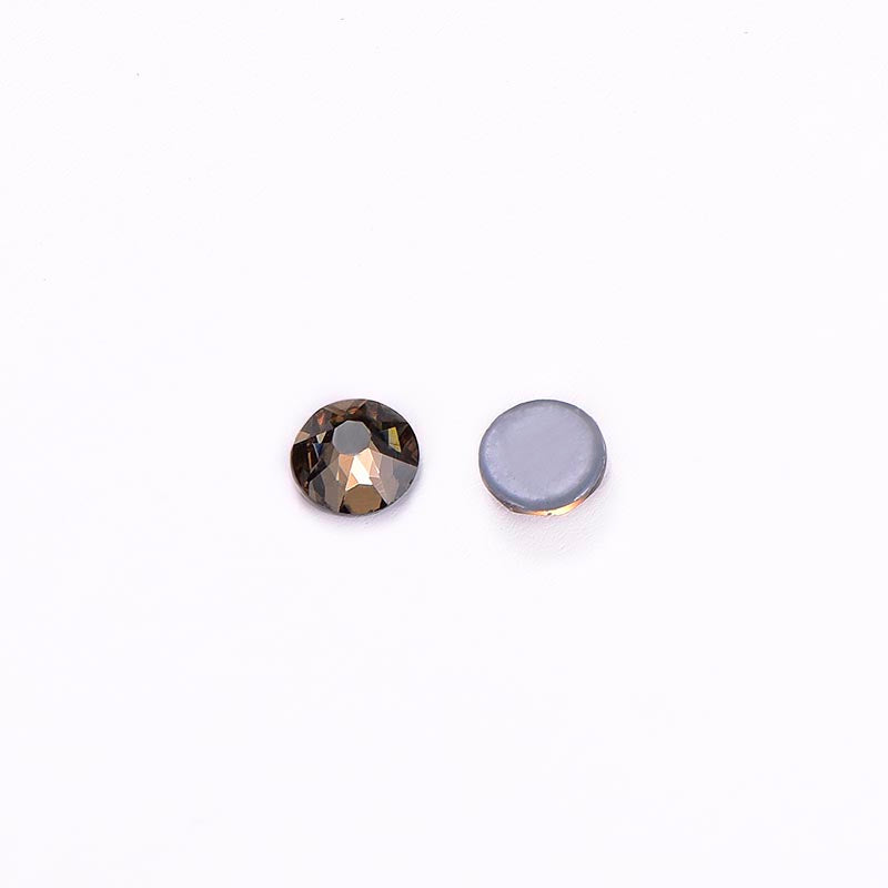 Smoked Topaz Glass HotFix Rhinestones 16 Cut Facets