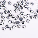 Silver Glass HotFix Rhinestones 16 Cut Facets