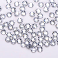 Crystal Glass Flat Back HotFix Rhinestones 8 Big 8 Small Cut Facets