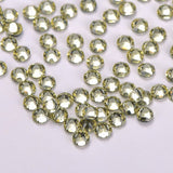Light Yellow HotFix Rhinestones 8 Big 8 Small Cut Facets