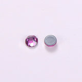 Fuchsia HotFix Rhinestones 8 Big 8 Small Cut Facets
