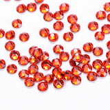 Orange Glass HotFix Rhinestones 16 Cut Facets