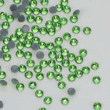Light Green HotFix Rhinestones Glass FlatBack Crystals - WholesaleRhinestone
