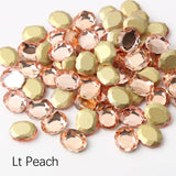 Light Peach Magic Mirror Shape Flat Back Fancy Rhinestones For Nail Art