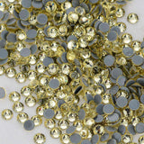 Light Yellow HotFix Rhinestones Glass FlatBack Crystals - WholesaleRhinestone