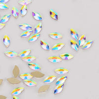 Mermaid Shape Crystal AB Flat Back Fancy Rhinestones - WholesaleRhinestone