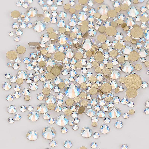 Mix Size Blue Moonlight FlatBack Rhinestones For Nail Art