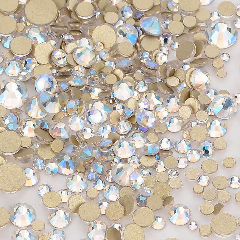 Mix Size Blue Moonlight FlatBack Rhinestones For Nail Art - WholesaleRhinestone