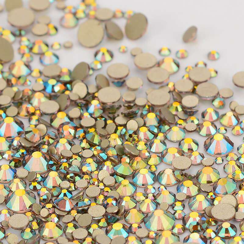 Mix Size Ghost Light FlatBack Rhinestones For Nail Art - WholesaleRhinestone