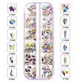 120 PCS Mixed Shapes Glass Crystal AB Fancy Rhinestones For Nail Art HZ1201