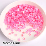 Mocha Pink Glass FlatBack Luminous Rhinestones For Nail Art