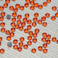 Orange HotFix Rhinestones Glass FlatBack Crystals - WholesaleRhinestone