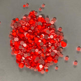 Mixed Sizes Orange FlatBack Neon Rhinestones For Nail Art