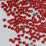 Red Siam HotFix Rhinestones Glass FlatBack Crystals - WholesaleRhinestone