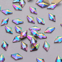 Rhombus Shape Crystal AB Flat Back Fancy Rhinestones - WholesaleRhinestone