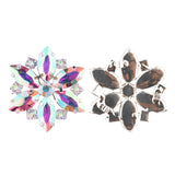 Sew-on Crystal AB Glass Rhinestone Applique RA619