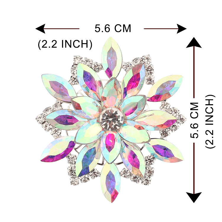 Sew-on Crystal AB Glass Rhinestone Applique RA678