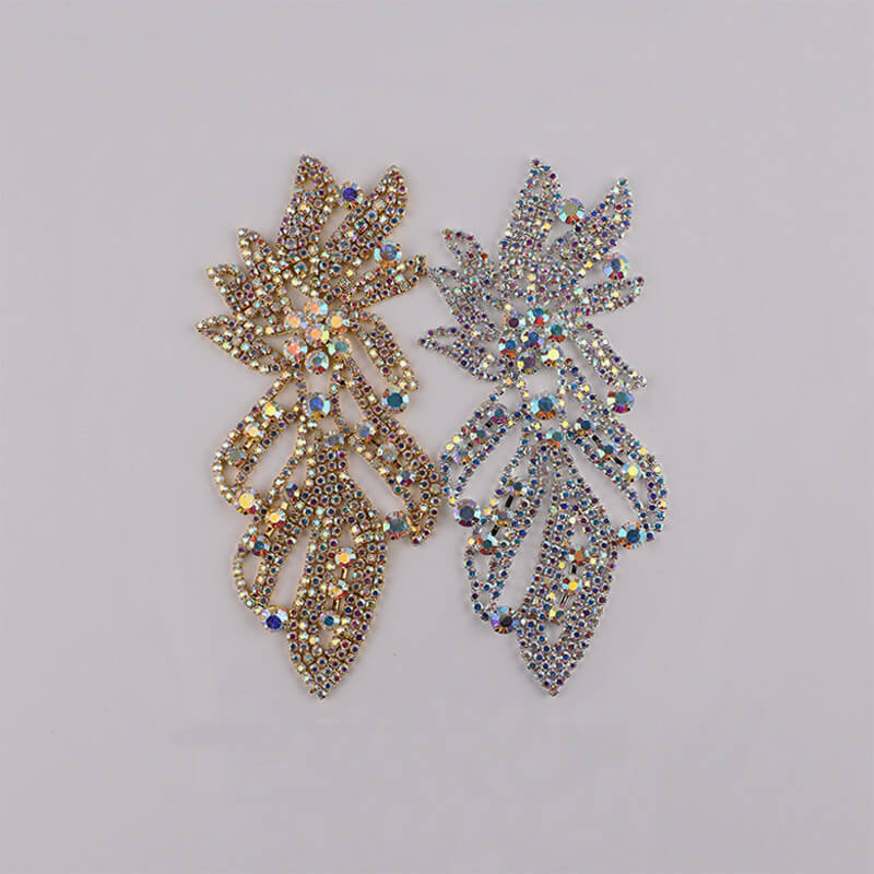 Sew-on Crystal AB  Glass Rhinestone Applique RA468