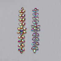 Sew-on Crystal AB  Glass Rhinestone Applique RA531