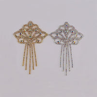Sew-on Crystal AB  Glass Rhinestone Applique RA644