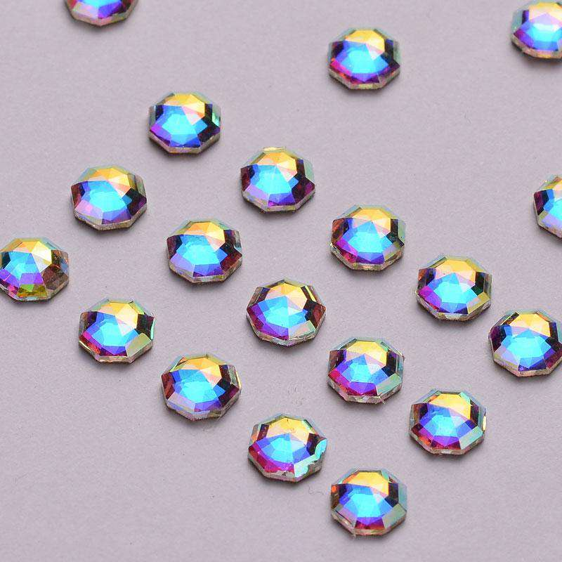 Solaris Shape Crystal AB Flat Back Fancy Rhinestones - WholesaleRhinestone
