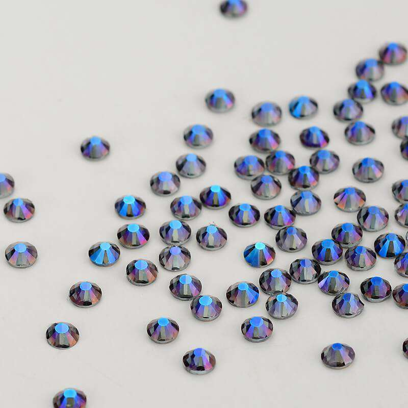 Violet Effects Glass FlatBack Rhinestones, Nail Crystals - WholesaleRhinestone