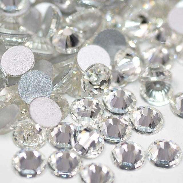 Clear Crystal Flatback Glass Rhinestones Non Hotfix For Nail Art Decorations - Rhinestones