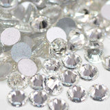 Crystal Glass FlatBack Rhinestones, Silver Back