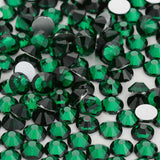 Dark Green Glass FlatBack Rhinestones, Nail Crystals - WholesaleRhinestone