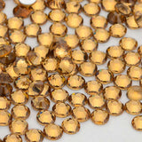 Light Colorado Topaz Glass FlatBack Rhinestones - WholesaleRhinestone