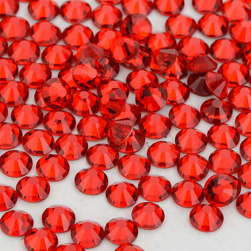 Light Red/Siam Glass FlatBack Rhinestones, Nail Crystals - WholesaleRhinestone
