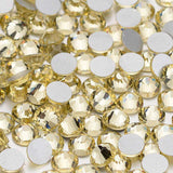 Light Yellow Glass FlatBack Rhinestones, Nail Crystals - WholesaleRhinestone