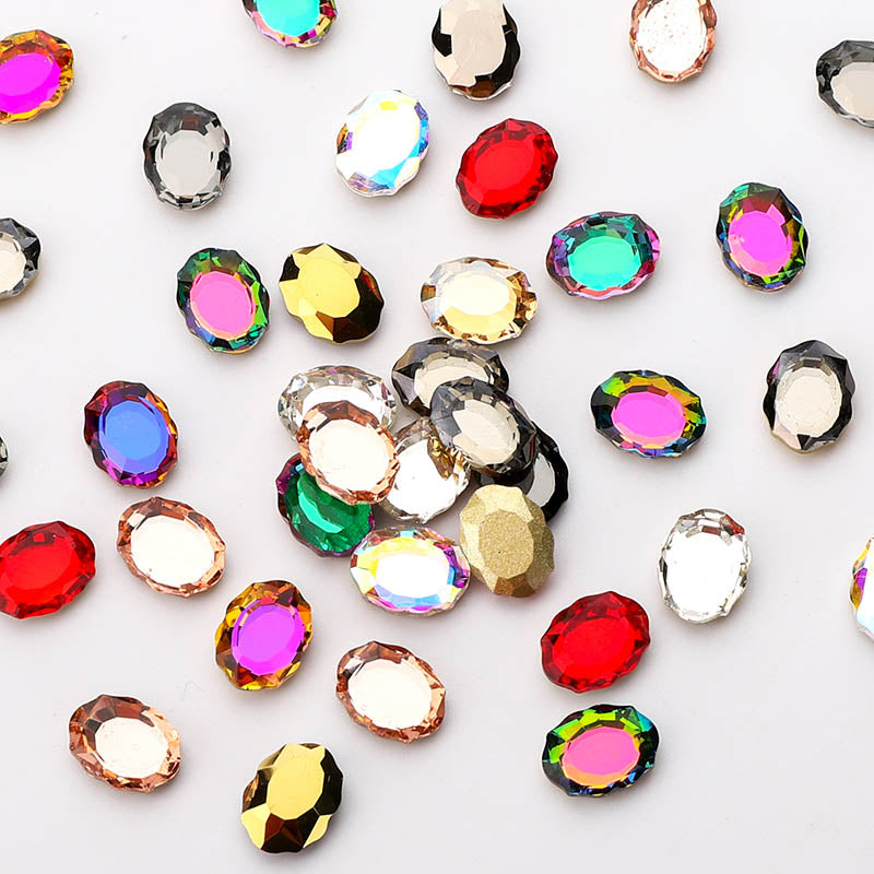 120 PCS Mixed Colors Magic Mirror Shape Glass Fancy Rhinestones For Nail Art HZ1204