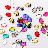 120 PCS Mixed Colors Skull Shape Glass Fancy Rhinestones For Nail Art HZ1203