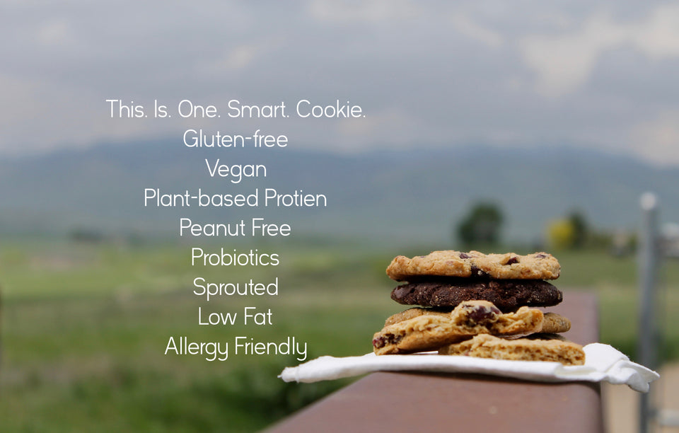 gluten-free, vegan, peanut free, sprouted cookie stack
