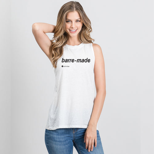 BARRE MADE White Triblend Sleeveless Tee
