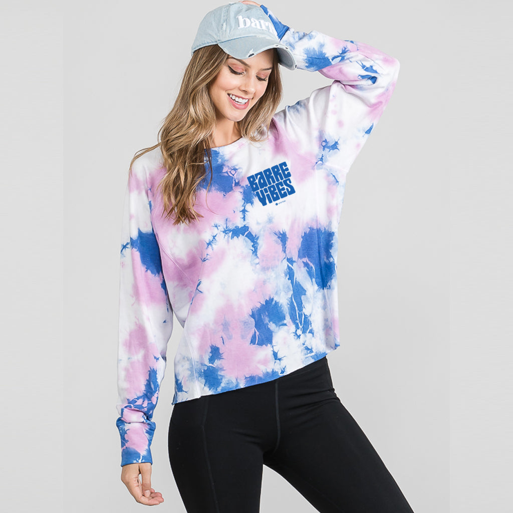 BARRE VIBES Brush fleece sweatshirt