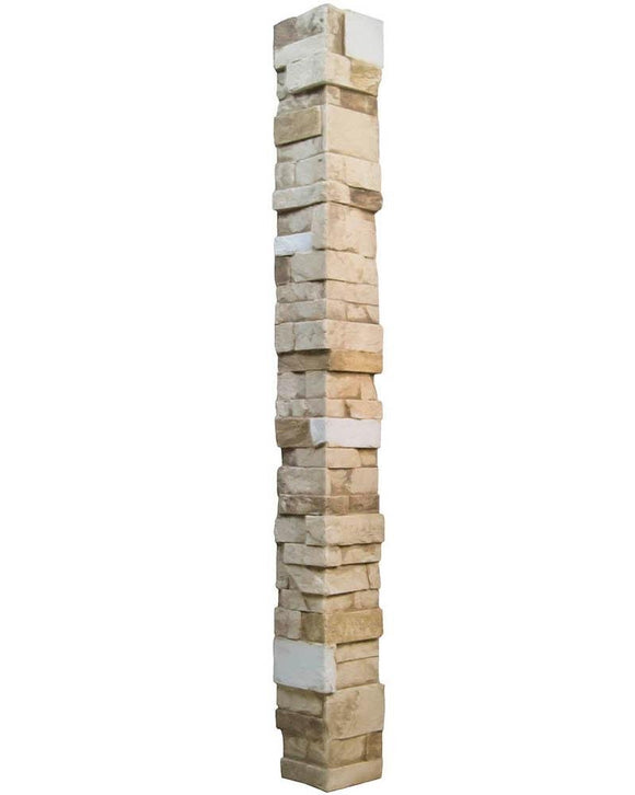 Stacked Stone 4x8 Narrow Keyless Corner DP2476 -DP2476- Fauxstonesheets