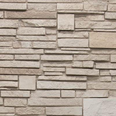 Virginia Stacked Stone Wainscot End cap (left) DP2724 -DP2724- Fauxstonesheets